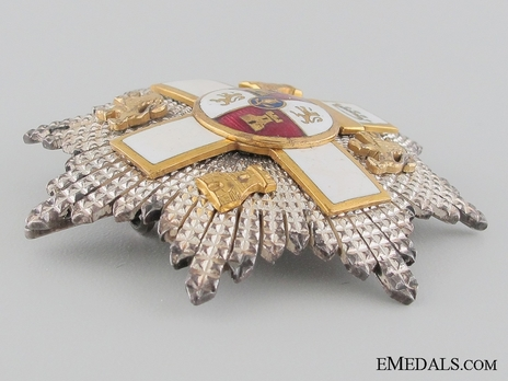 2nd Class Breast Star (white distinction) (with coat of arms of Castile and Leon, and Imperial Crown) (Silver and Silver gilt) Obverse