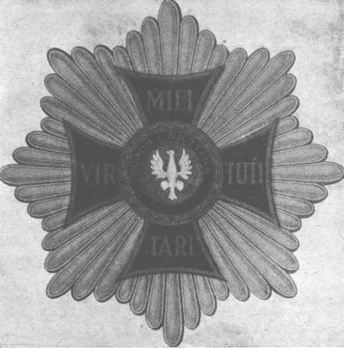 Order of Virtuti Militari, Type II, Grand Cross Breast Star Obverse