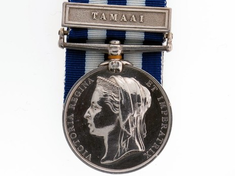"""Silver Medal (with """"TAMAAI"""" clasp) Obverse"""