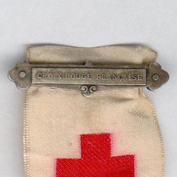 "Silver Medal (with ""CROIX ROUGE FRANÇAISE"" suspension clasp) Clasp"