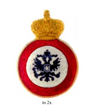 Order of St. Anne, Type III, Civil Division, IV Class Badge (for non-christians)