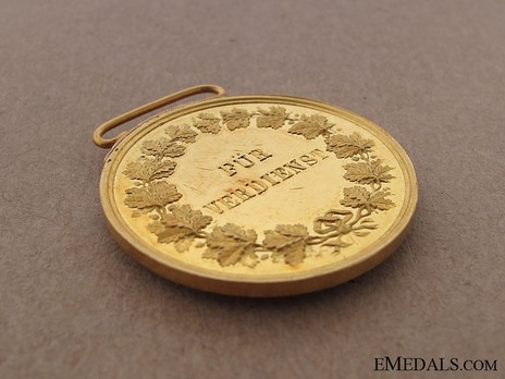 Small Gold Medal (1882-1908) Reverse