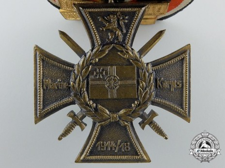 Commemorative Honour Cross of the Navy Corps, Flanders (with clasps) Reverse