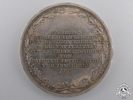 Militia Service Medal Reverse