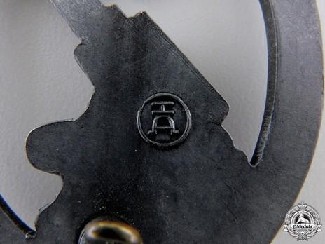 Army Flak Badge, by H. Aurich Detail