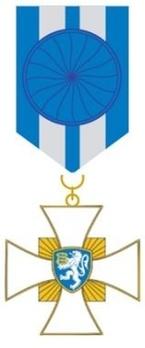 Order of Border Guard Merit, Gold Cross Obverse