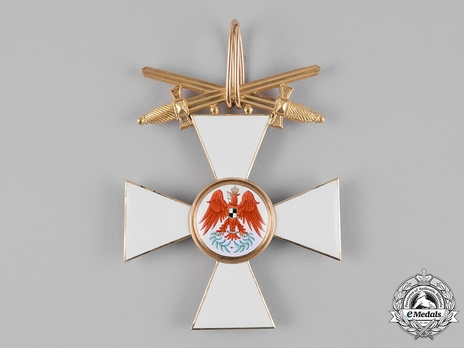 Order of the Red Eagle, Type V, Military Division, I Class Cross (with swords on ring, in gold)