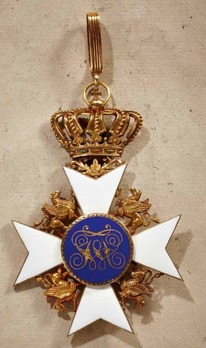 Order of the Wendish Crown, Commander (in gold)