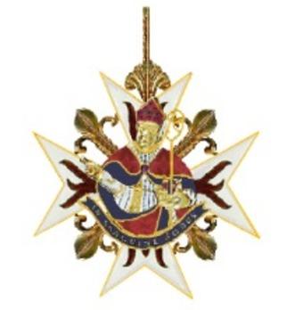 Order of Saint Januarius, Knight's Cross (in gold) Reverse