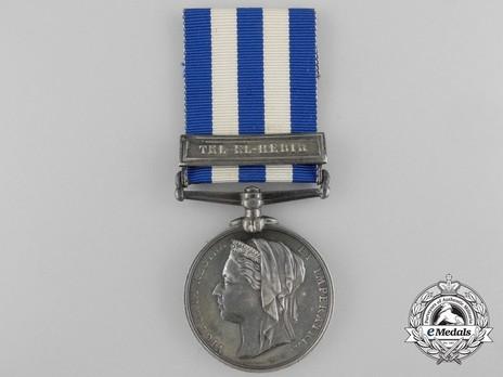 """Silver Medal (with """"TEL-EL-KEBIR"""" clasp) Obverse"""