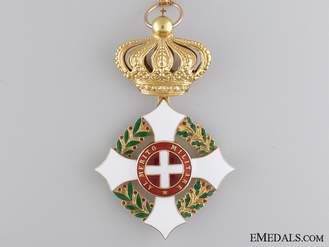 Military Order of Savoy, Type II, Commander Obverse