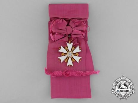 Order of the White Star, Collar Sash Badge Obverse