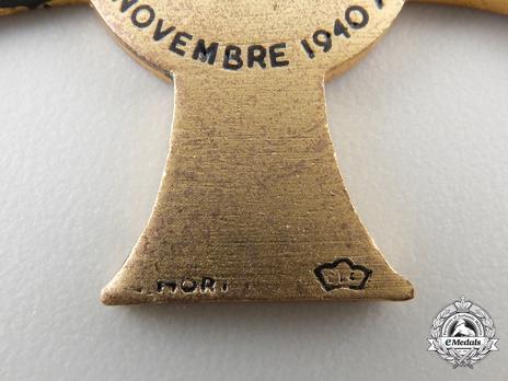 """Cross (stamped """"G. MORI"""") Reverse Detail"""
